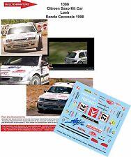 DECALS 1/18 REF 1388 CITROEN SAXO SEBASTIEN LOEB RALYE RONDE CEVENOLE 1998 RALLY