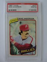 1980 Topps PHILADELPHIA PHILLIES #317 MIKE ANDERSON PSA 9 Mint Baseball Card