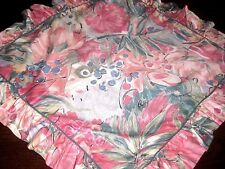 Lot of 2 (PAIR) Vintage LAURA ASHLEY Pink Floral EURO Size SHAMS Made in USA