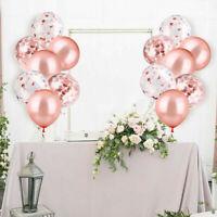 20X Konfetti Luftballon Set Geburtstag Party Hochzeit Ballons Champagner