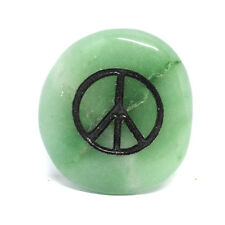 Peace Sign Crystal Palm Totem Native American Power Healing Gem Stone