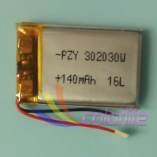 3.7V 140mAh 302030 Lipo ion Polymer Battery for MP3 MP4 Handset Bluetooth GPS