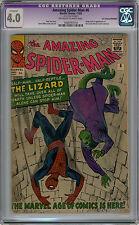Amazing Spider Man #6 CGC 4.0 Pence UK Copy TRIMMED Rare 1st Lizard
