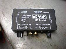 JK Audio THAT-2 Telephone Handset Audio Tap Free Shipping