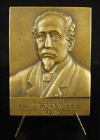 Medal Homage to Edmond Weil Professor of Medicine Lyon 1925 Medic Medal