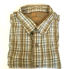 Carhartt Button Front Shirt Men's XL Relaxed Fit 70% Cotton 30% Nylon Plaid