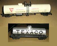 Lot 2 Vintage AHM and TYCO Tank Cars,GATX,UTLX 85780,Texaco,HO-Scale