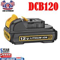 For DCB120 DEWALT 12V 12 VOLT MAX Lithium Ion Battery Pack DCB120B DCB127 DCB121