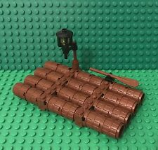 Lego MOC Pirates / Castle / Kingdoms Small Barrel Raft Ship Boat Escape W/ Lamp