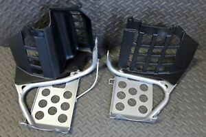 NEW Silver Heel Guards footrest Yamaha Banshee left + right nerf bars plastic