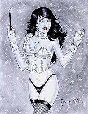 ZATANNA ORIGINAL COMIC ART COLOR SKETCH 11 BY COMIC ARTIST JAMES CHEN