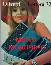 OLIVETTI LETTERA 32  QUADRO PUBBLICITARIO MACCHINA DA SCRIVERE POST M1 del 1963