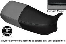BLACK & GREY VINYL CUSTOM FITS HONDA XL 600 V TRANSALP DUAL SEAT COVER ONLY