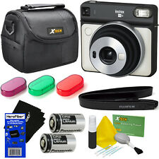 Fujifilm instax Square SQ6 Instant Film Camera (Pearl White) + 9pc Acc Kit