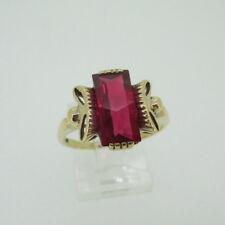 size 7 synthetic x40 LOT SALE 925 sterling silver rings Fine-Cut Ruby //Diamonds