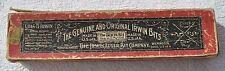 1920s USA Ohio Irwin Auger Bit Company ORIGINAL BOX + ONE BIT INSIDE