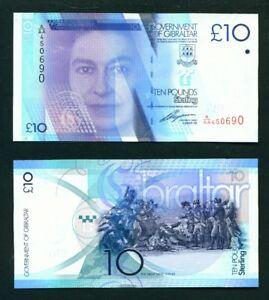 GIBRALTAR - 2010 £10 UNC Banknote