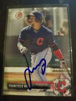 2017 Bowman FRANCISCO MEJIA Signed Card autograph PADRES RC Indians IP Auto MLB