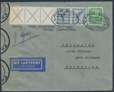 Dt. Reich Flugpost 1931 Zusammendruck W 21.3 Bahnpost Luftpost Jerusalem (S15174