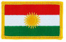 FLAG PATCH PATCHES KURDISTAN KURDS KURDISH IRON ON COUNTRY EMBROIDERED SMALL