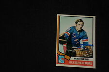 GILLES VILLEMURE 1974-75 TOPPS SIGNED AUTOGRAPHED CARD #179 RANGERS