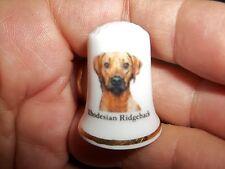 New listing vintage Rhodesian Ridgeback Dog Collectible ceramic Thimble figurine Lim.Edition