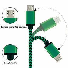5 Colors Braided USB Data Sync Charger Cable Cord For LG Samsung Phone X 2 Pcs