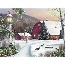 500 Piece Jigsaw Puzzle Game In the Still Light of Dawn - Snow Christmas, No Tax