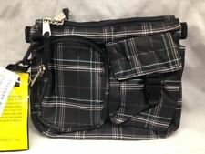 "Crossbody Purse Western Pack Waist Shoulder Bag Black w/Stripes Classy ""Women's"""