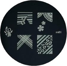 Round Nail Stamping Plates Manicure Pedicure Nail Art 81