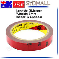 3M Genuine 6mm 3 Meters Double Face Sided Tape (Automotive Grade) for Visor AU