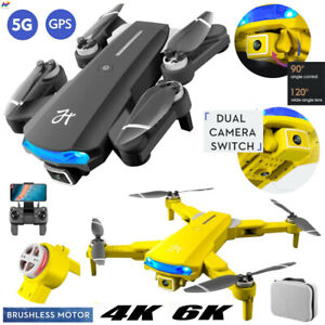 Drone 4K 6K UHD Wide Angle Dual Camera Wifi 5G GPS Foldable Brushless Quadcopter