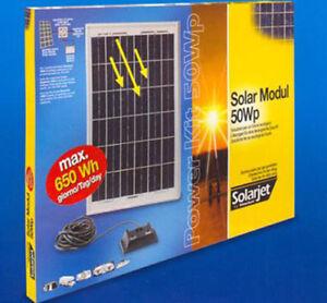 Set Pannello Solare STOCKER SOLARJET Power Kit 50Wp
