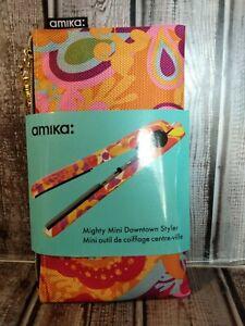Mighty Mini Downtown Flat Iron Styler Hair Salon Straightener Curler- Amika New