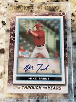 MIKE TROUT AUTO RP Topps Through the Years AngelsTTY-28