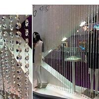Chic Door Window String Tassel Curtain Divider Crystal Beads Panel Room Decor
