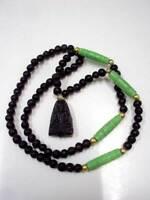 LP Tuad Leklai Necklace Mala Bead Pendant Magic Real Thai Buddha Amulet Talisman