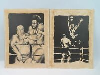 WRESTLING LITHOGRAPHS BY RICHARD COLVIN DICK THE BRUISER ERNIE LADD MIL MASCARAS