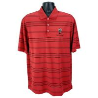 Nike-Golf Men's L Large Polo Shirt Short Sleeve Dri-Fit Performance Red