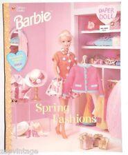 Vintage NEW 1997 Spring Fashions Barbie Paper Dolls (Mattel) Golden Book