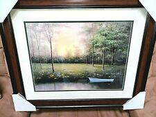 "NEW DIANE ROMANELLO ""Secret Glen""  Lithograph Art Print Painting ~ Framed Signed"