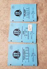 3 I&T Shop Service Flat Rate Manuals Ford FO-33 Massey MF-40 John Deere JD-54