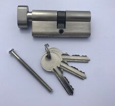 Euro Lock Cylinder Barrel Silver Colour 70mm Key & Turn Comes With 3 Keys