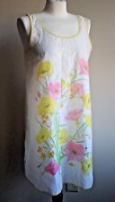 "Vintage St. Michael 34"" Beautiful Floral Wildflower Buttercup Nightgown Chemise"