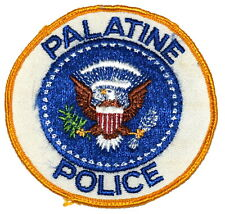 PALATINE ILLINOIS IL Sheriff Police Patch STATE SEAL VINTAGE OLD MESH USED ~