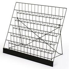 Rack Display Six Tier Black Wire Magazine Books Newspaper Vendors Light Carry
