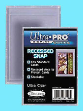 1 ULTRA PRO RECESSED SNAP STANDARD SIZE Trading Card Holder Sports Plastic Case
