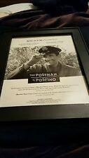 The Postman IL Postino Rare Original Academy Awards Promo Poster Ad Framed! #3