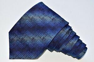 "Fendi Blue  Men's Neck Tie W: 3 3/4 "" by L:57 "" made in ITALY"
