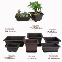 Flower Pot Balcony Square Basin Bonsai Plant Planter Bowl Nursery Tray Planter
